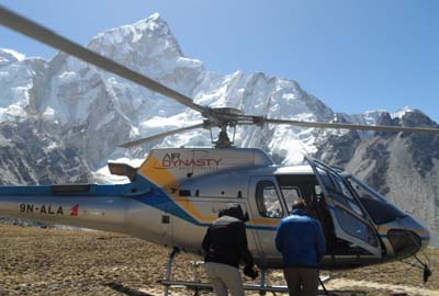 Guide for a helicopter trip to Everest base camp